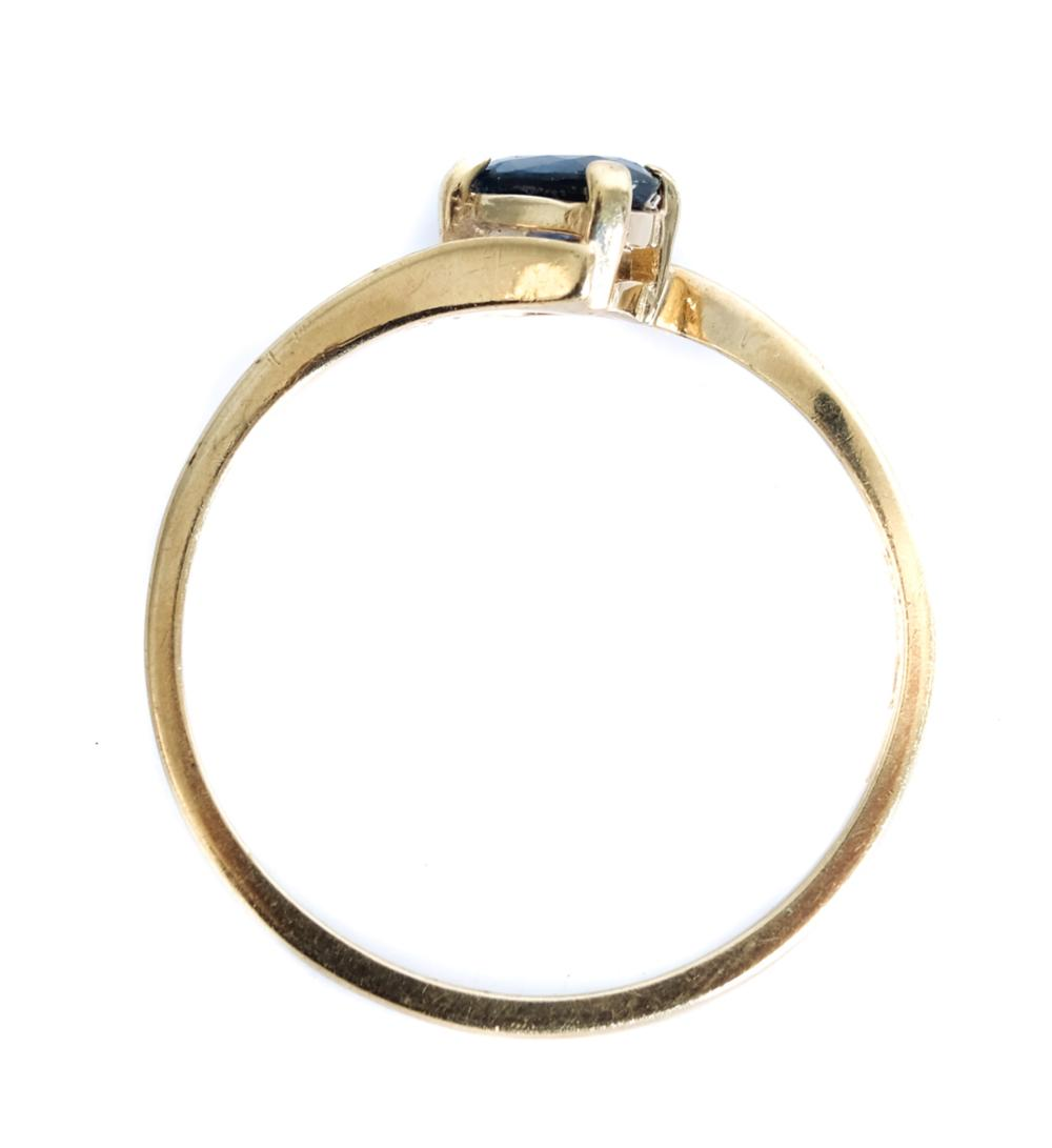 10K Yellow Gold & Tanzanite Ring, Size 6