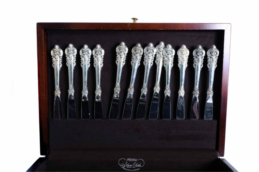 "Wallace ""Grand Baroque"" Sterling Flatware Set"