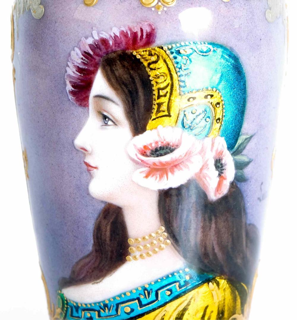 Austria Vienna Porcelain Signed Lescot Miniature