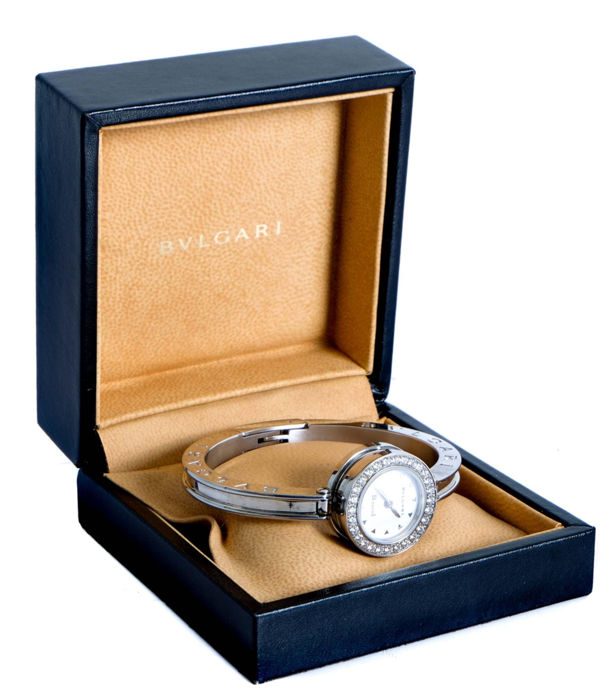 BVLGARI BULGARI B Zero 1 Watch w/Diamonds