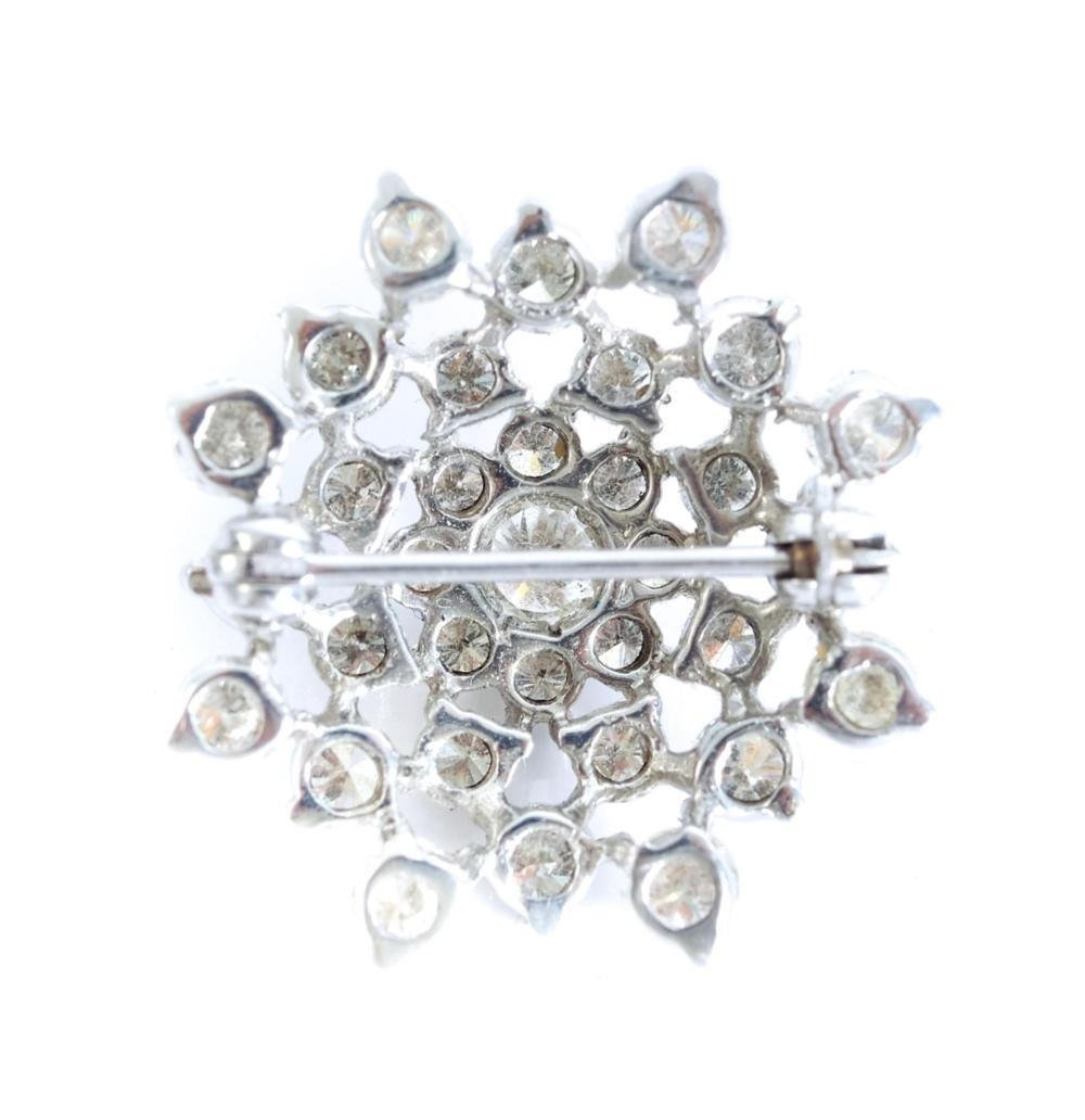 Vintage 14k White Gold 2.44 CTW Diamond Pin