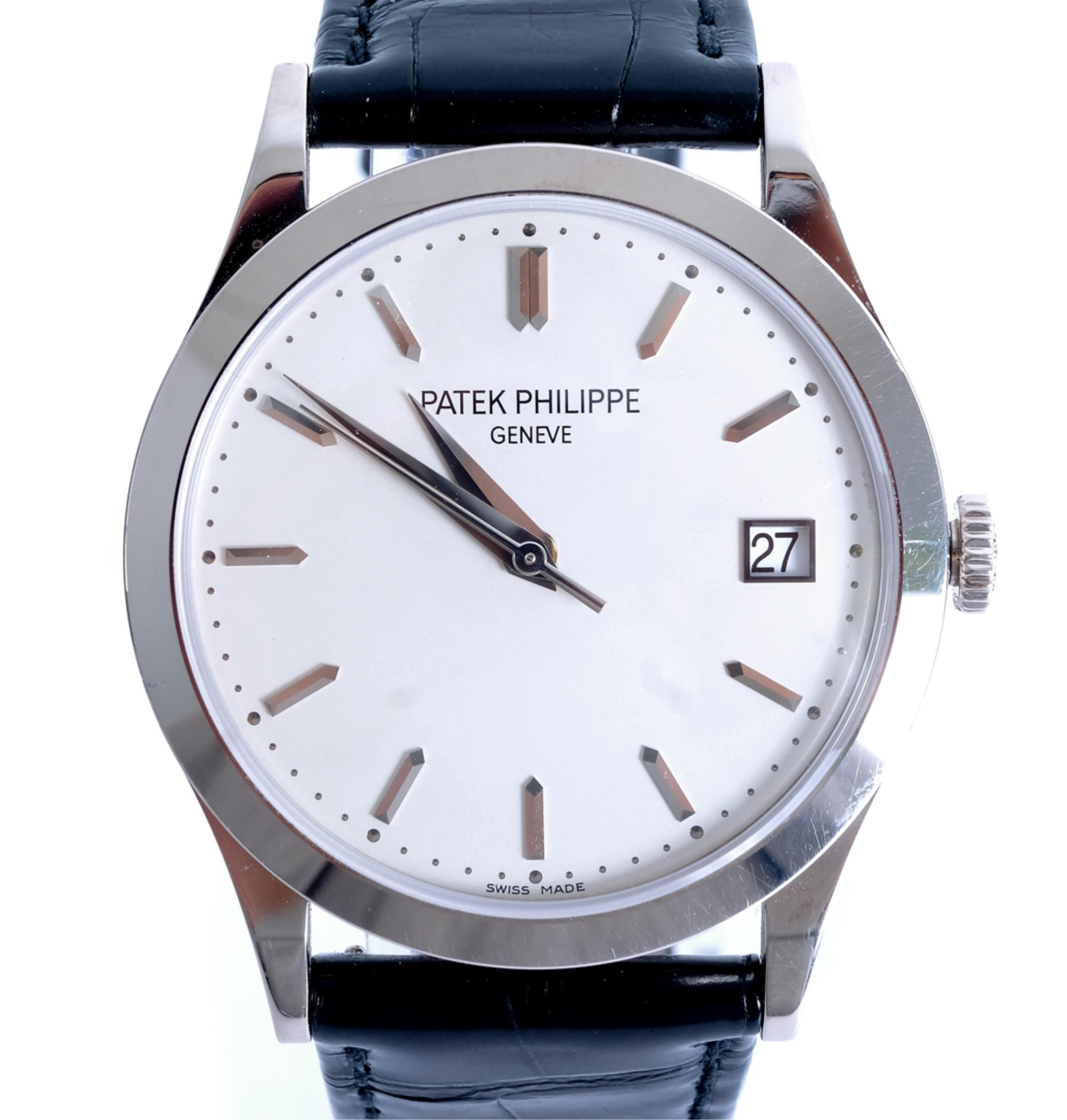 Patek Philippe 5296G-010 Calatrava 18k WG Watch