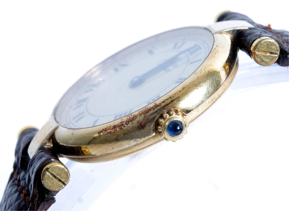 Must de Cartier 925 Sterling Vermeil Watch