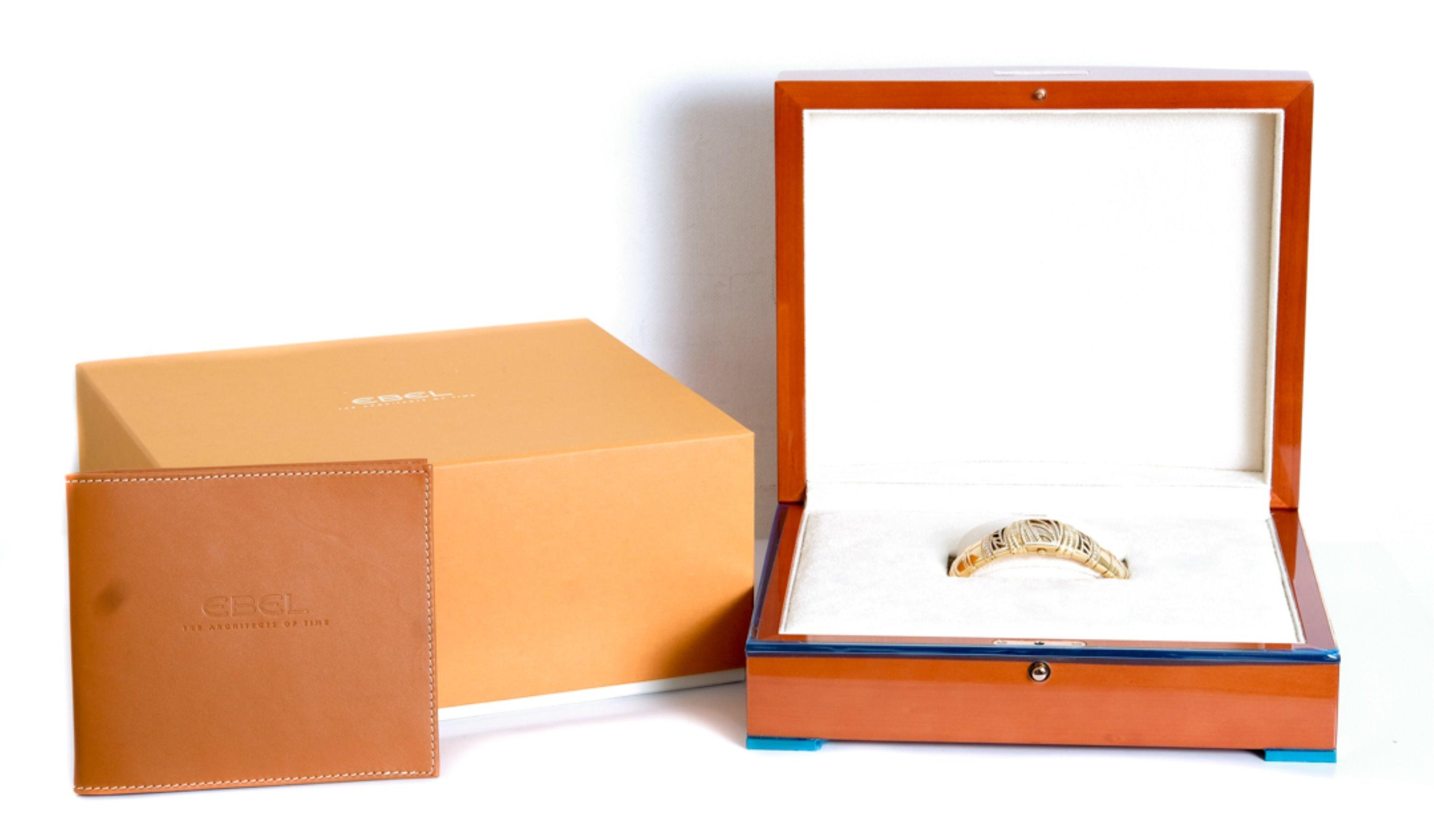 18k YG Diamond Ebel Shanta Watch w/Box