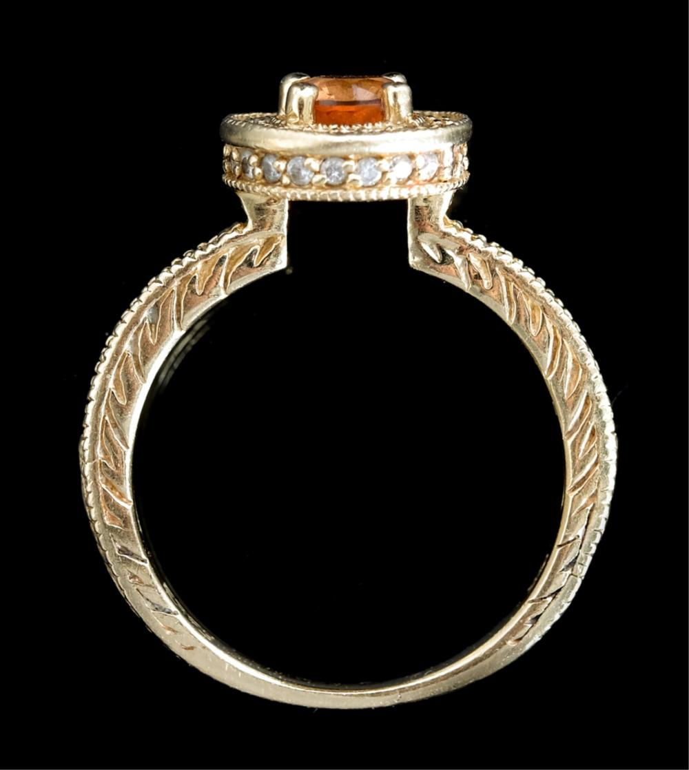 Designer EFFY 14k YG Morganite Ring w/Diamonds