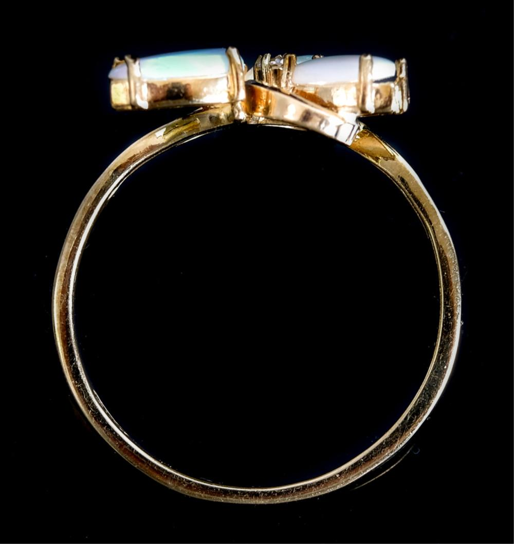 14k Yellow Gold & Opal Ring, Size 7