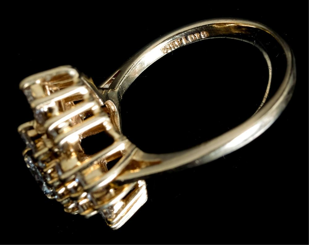 14k Yellow Gold Diamond Ring Size 8 1/2
