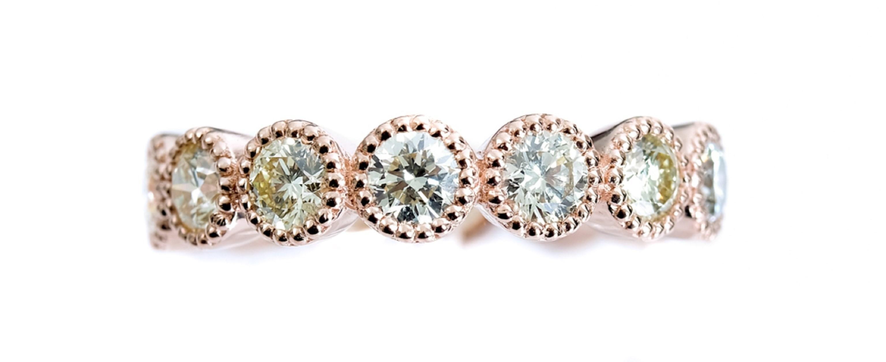 14k Rose Gold & 2.0 CT Diamond Ring