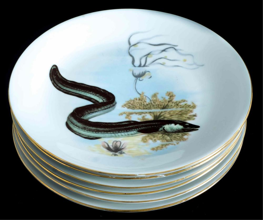 Kahla Germany Sturgeon Fish Platter w/Plates