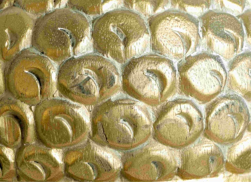 Hollywood Regency Style Gold Buddha Head