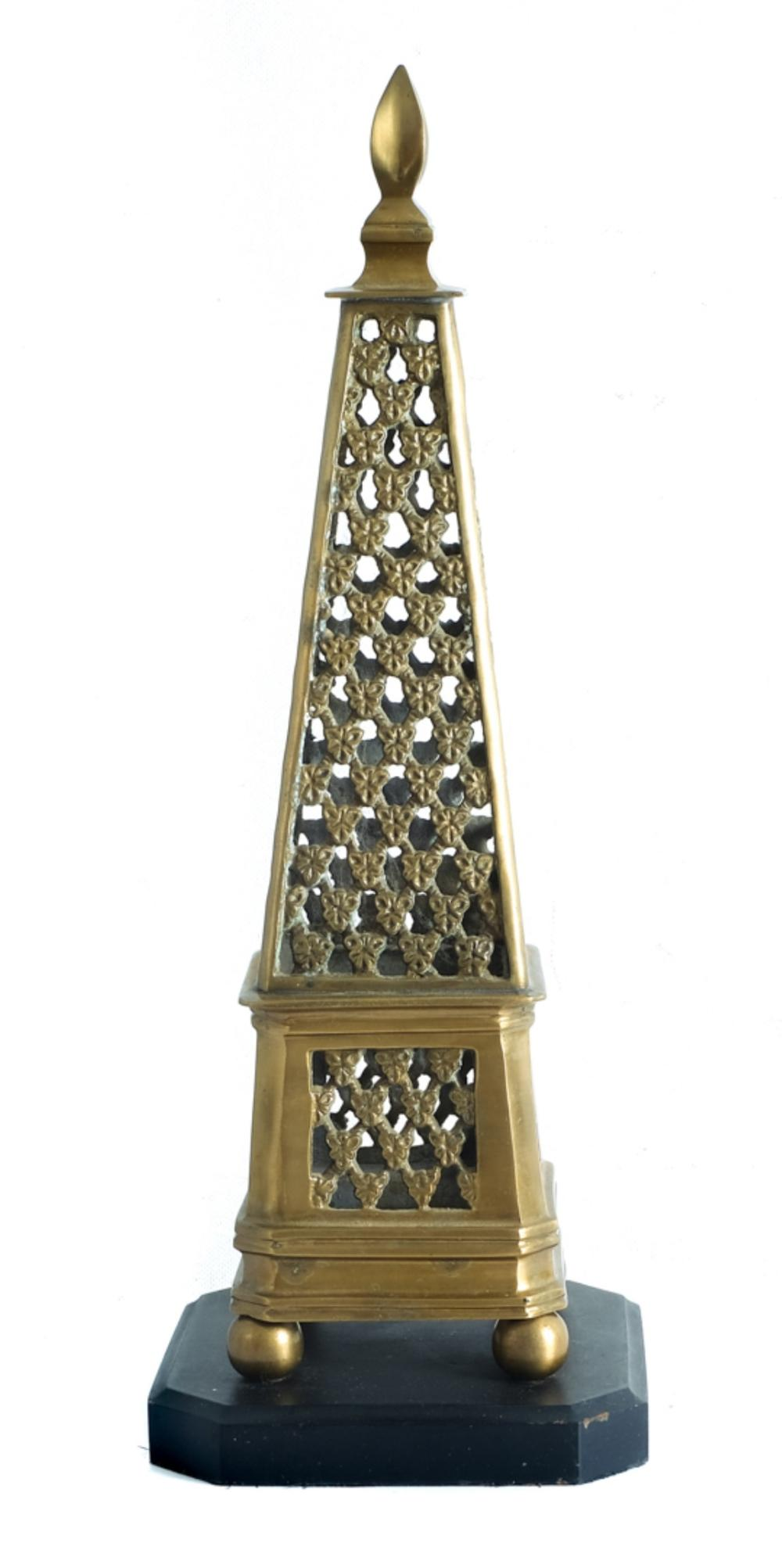 Architectural Style Brass Table Top Sculpture