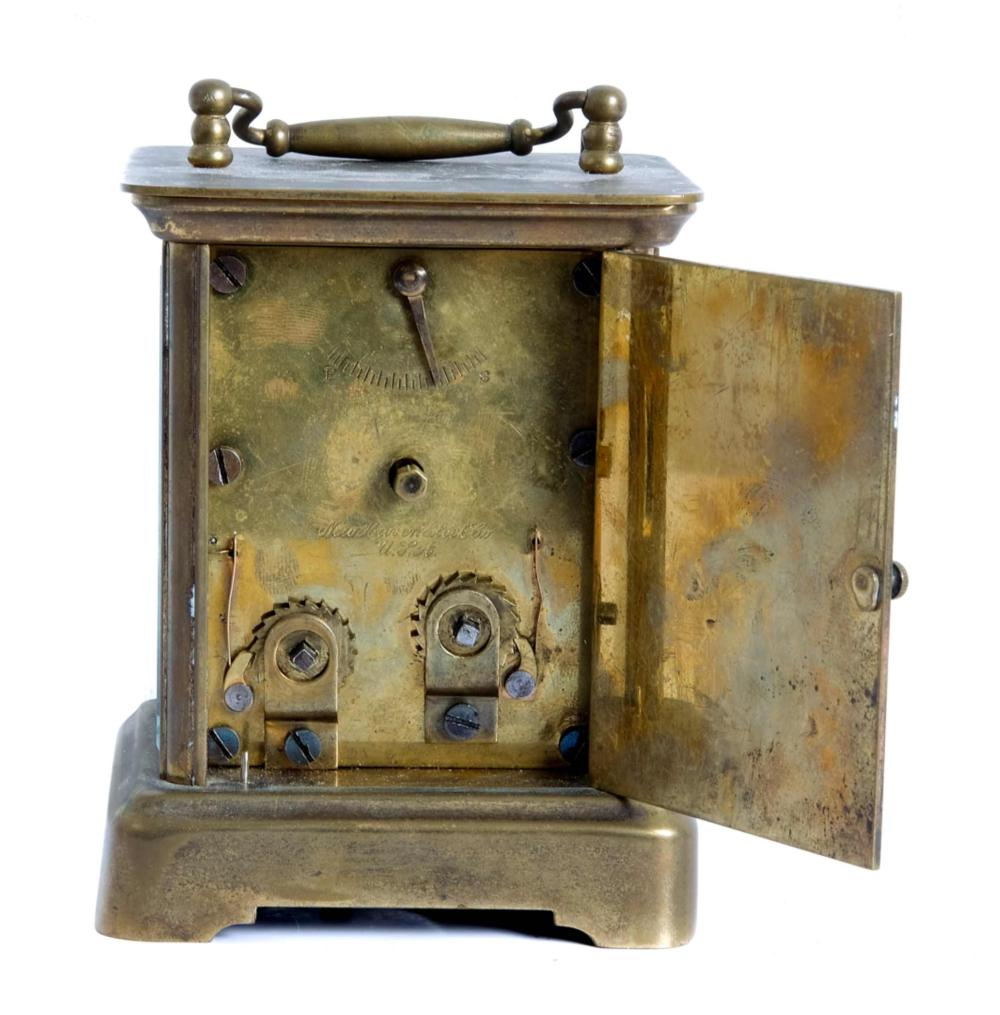 Antique New Haven Eight Day Brass Carriage Clock
