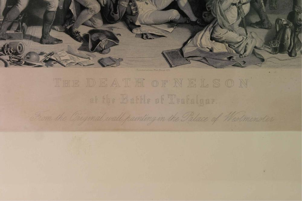 Pair 19th C. Battle Scene Engravings - 4 Feet Long