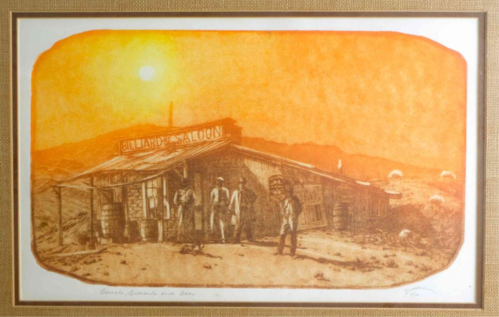 Roy Purcell, Barrels, Billiards and Beer Etching