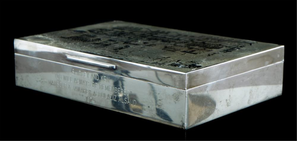 Important Silver Box from King Abdulaziz Al Saud