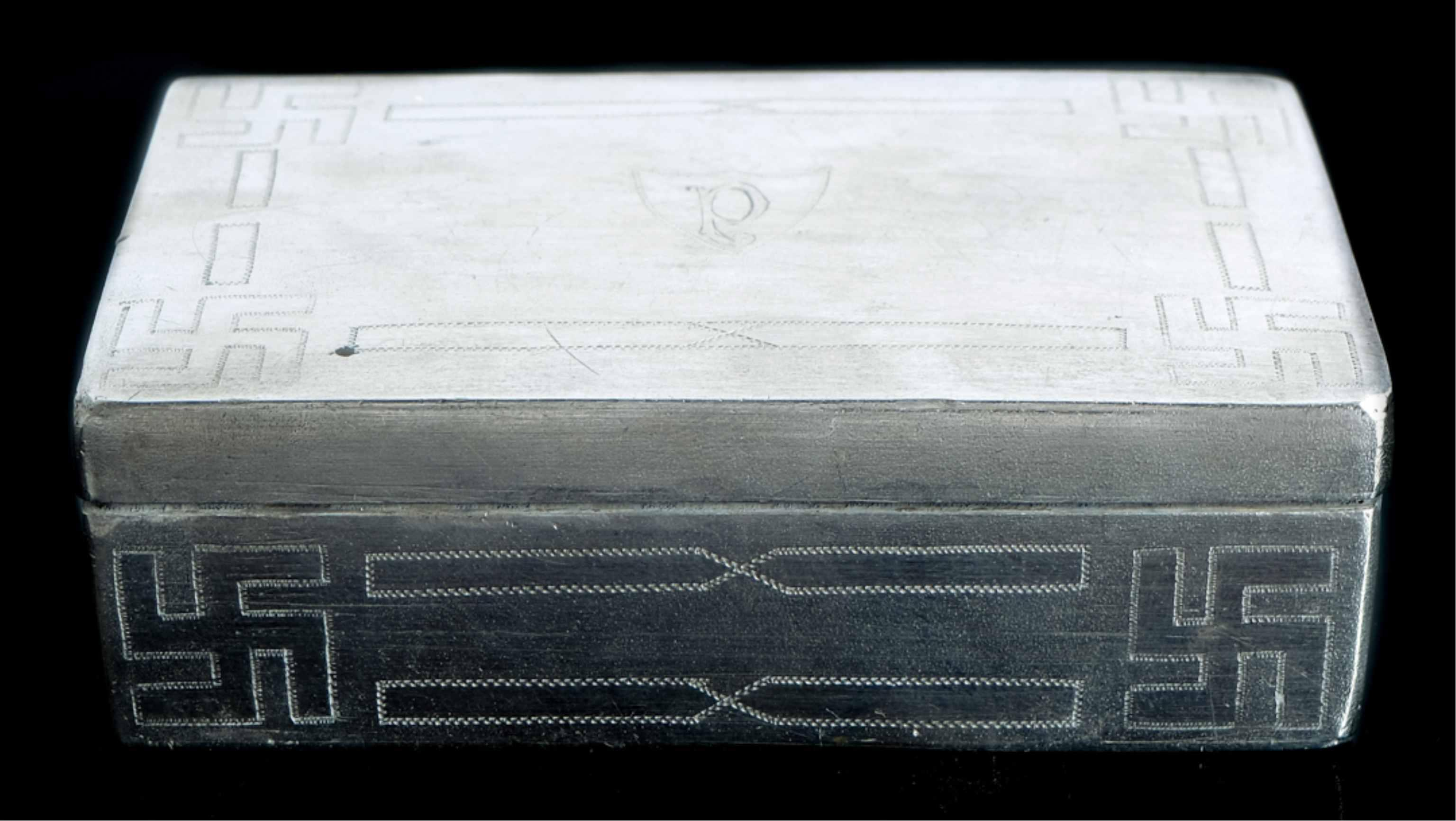 Native American Sterling Silver Tobacco Box