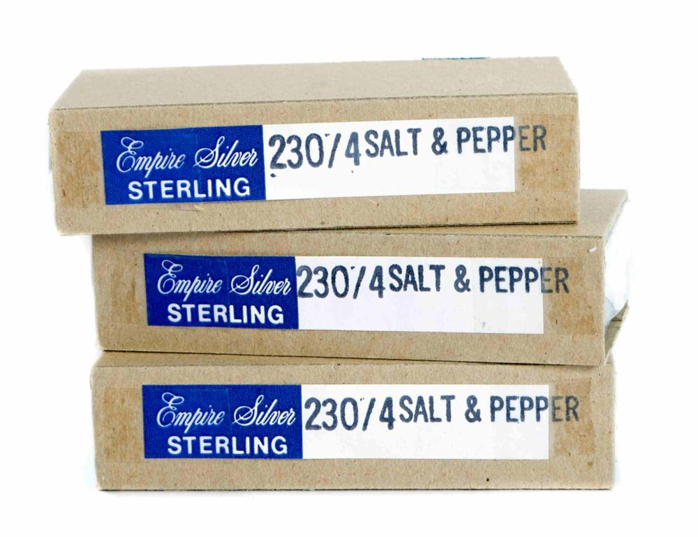 Group, 12 Sterling Silver Salt & Pepper Shakers