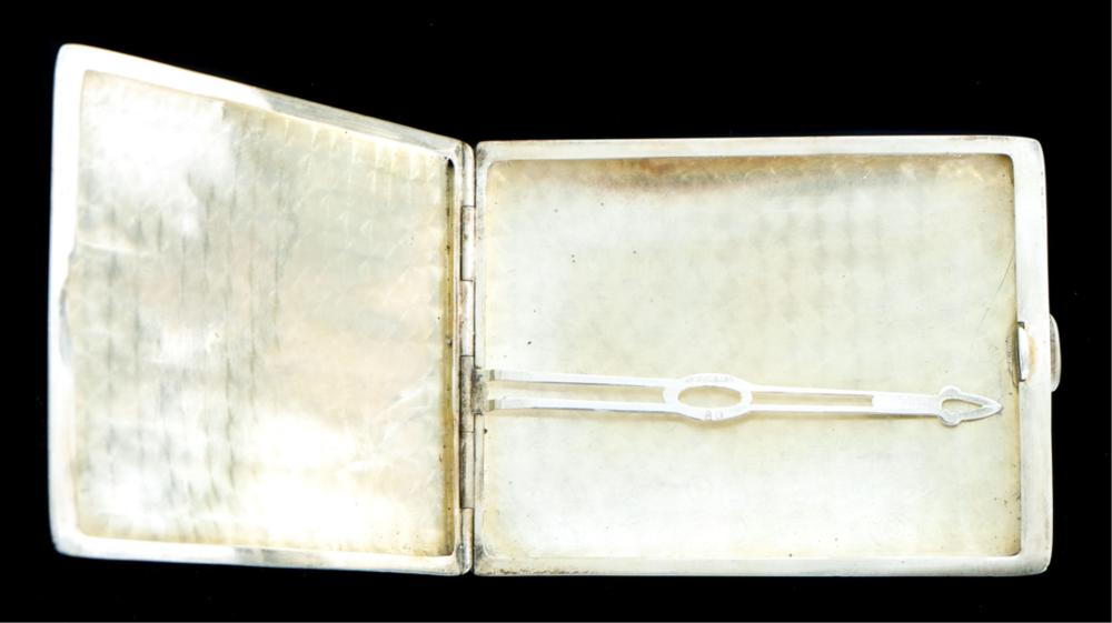 Watrous Engine Turned Sterling Cigarette Case
