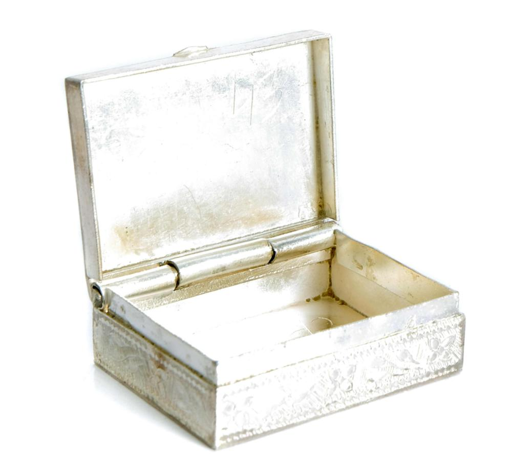 Group, Three Sterling Silver Miniature Boxes