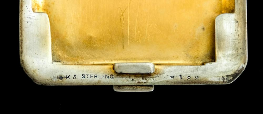 Tiffany & Co14k Yellow Gold & Sterling Match Safe