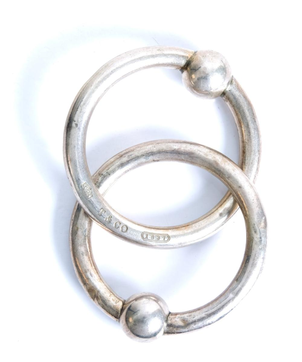 Tiffany & Co. Double Circle Sterling Teething Ring