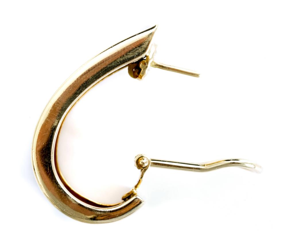 Tiffany & Co. 18k YG Half Hoop Earrings X-Large