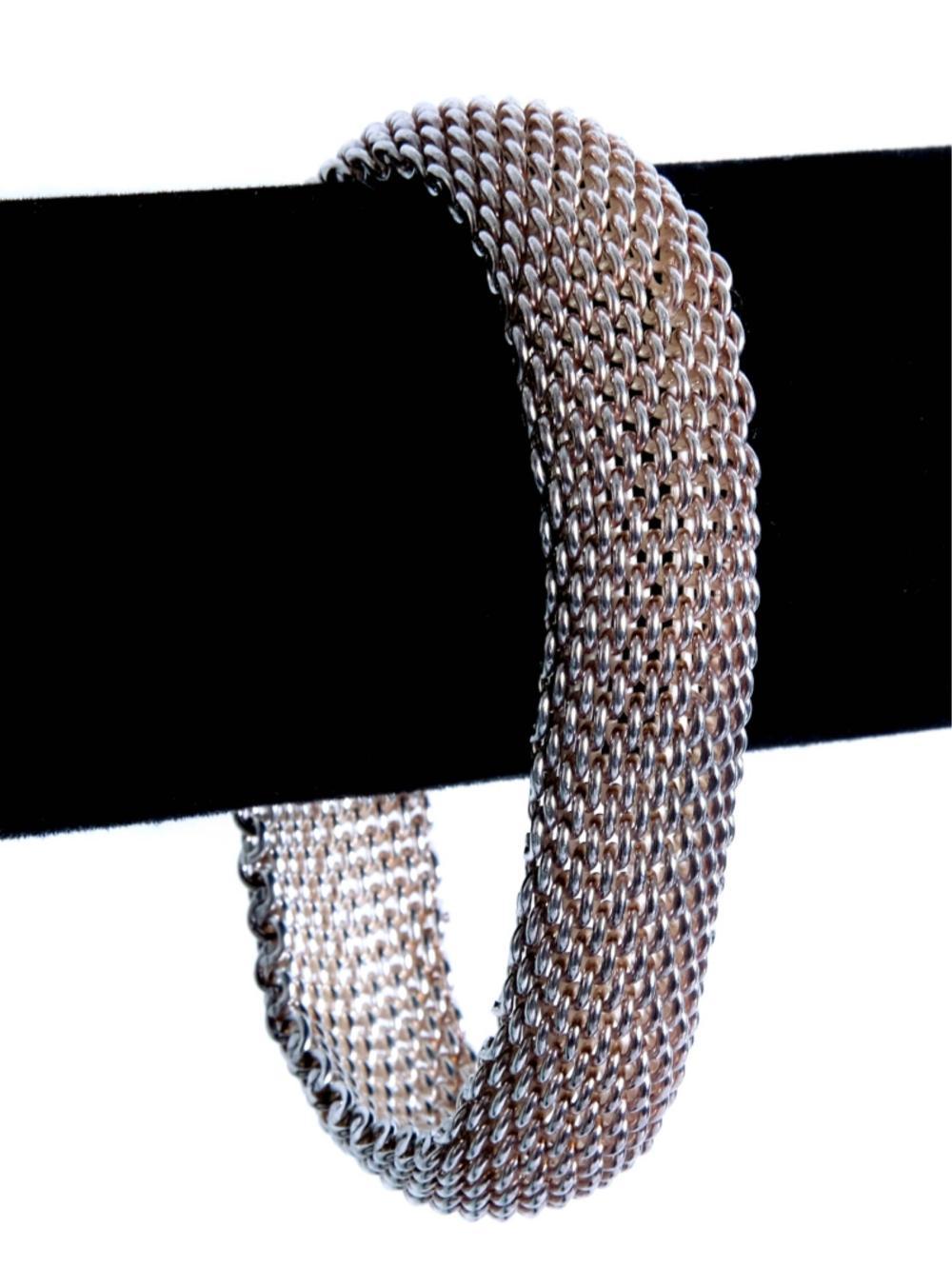 Tiffany & Co 925 Somerset Mesh Weave Bracelet