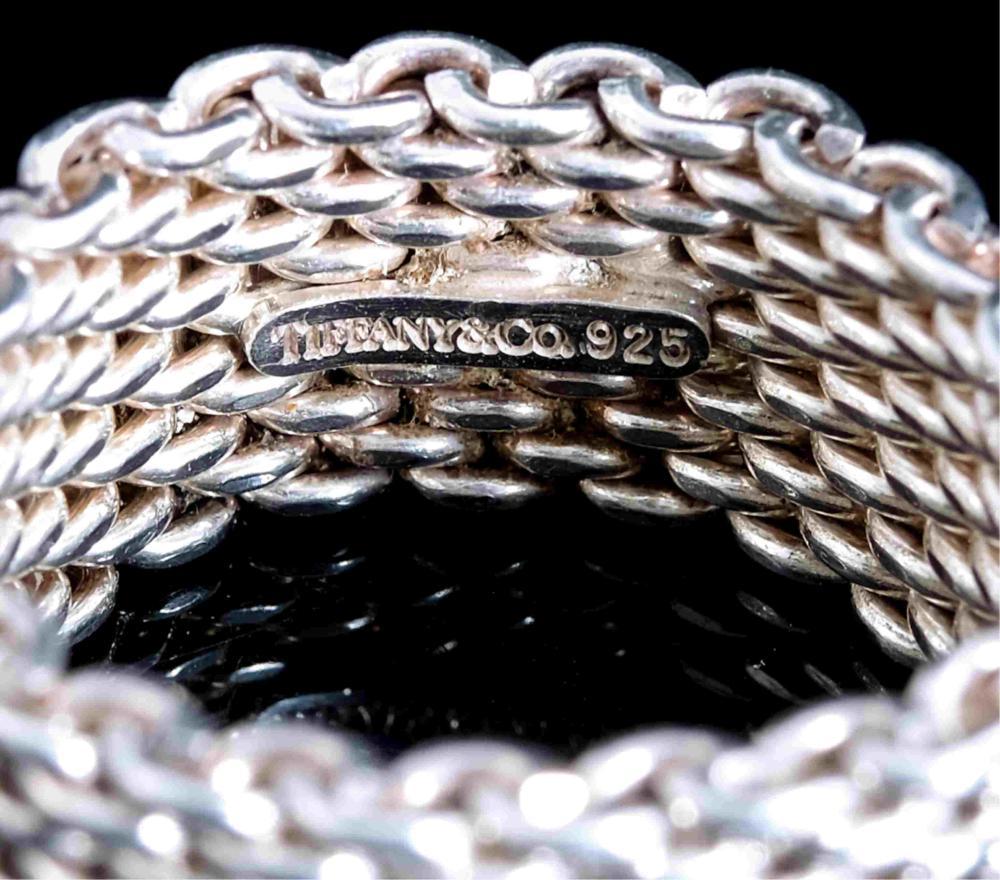 Tiffany & Co 925 Somerset Mesh Weave Ring