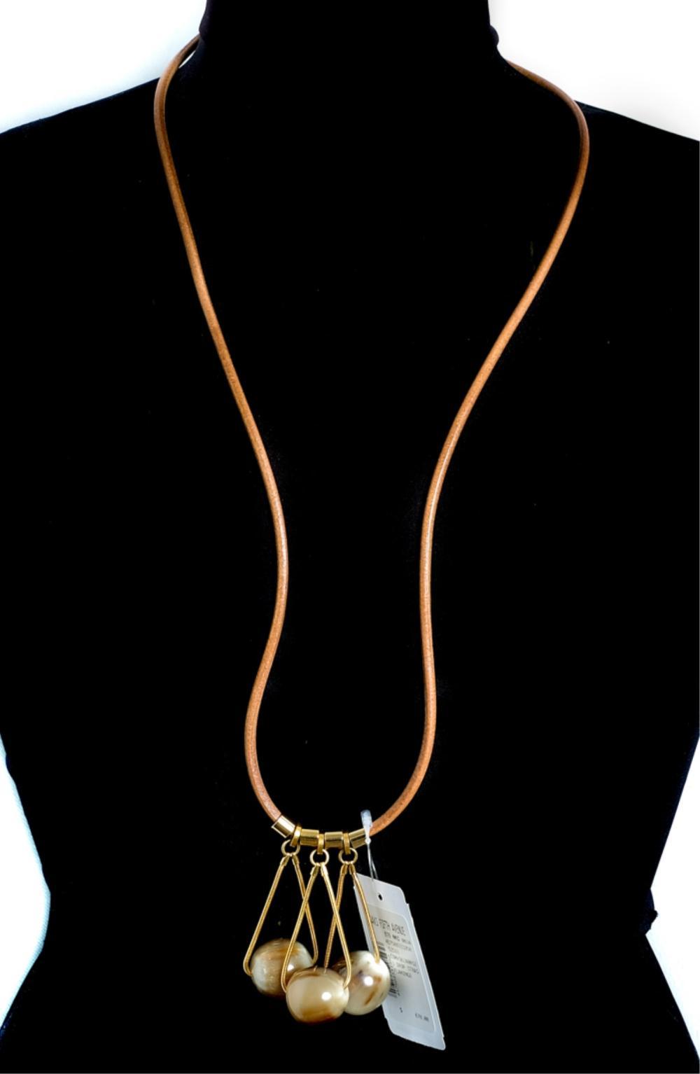 NWT MARNI Designer Collana Corno Horn Necklace