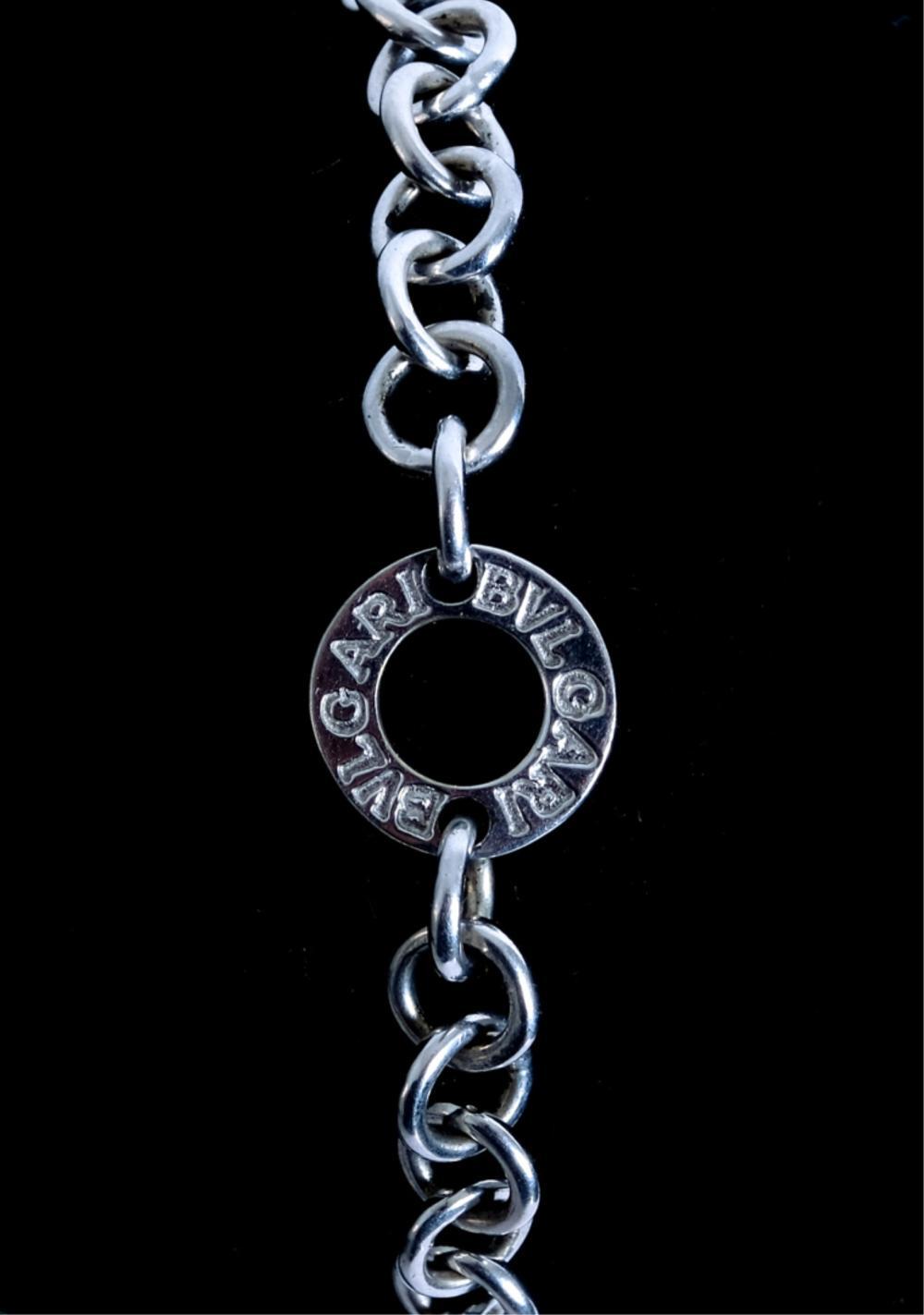 Bvlgari Bulgari 18k White Gold Signature Bracelet