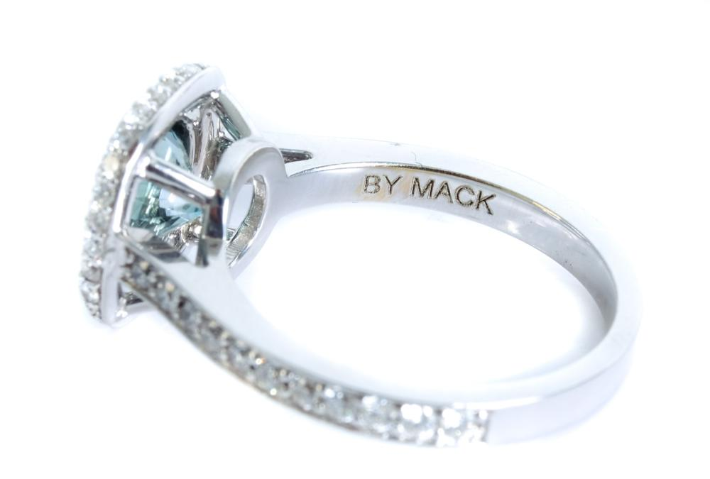 18k White Gold 1.18ct Diamond Ring, Size 6