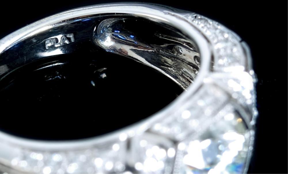Saturn Jewels Platinum Diamond & Sapphire Ring