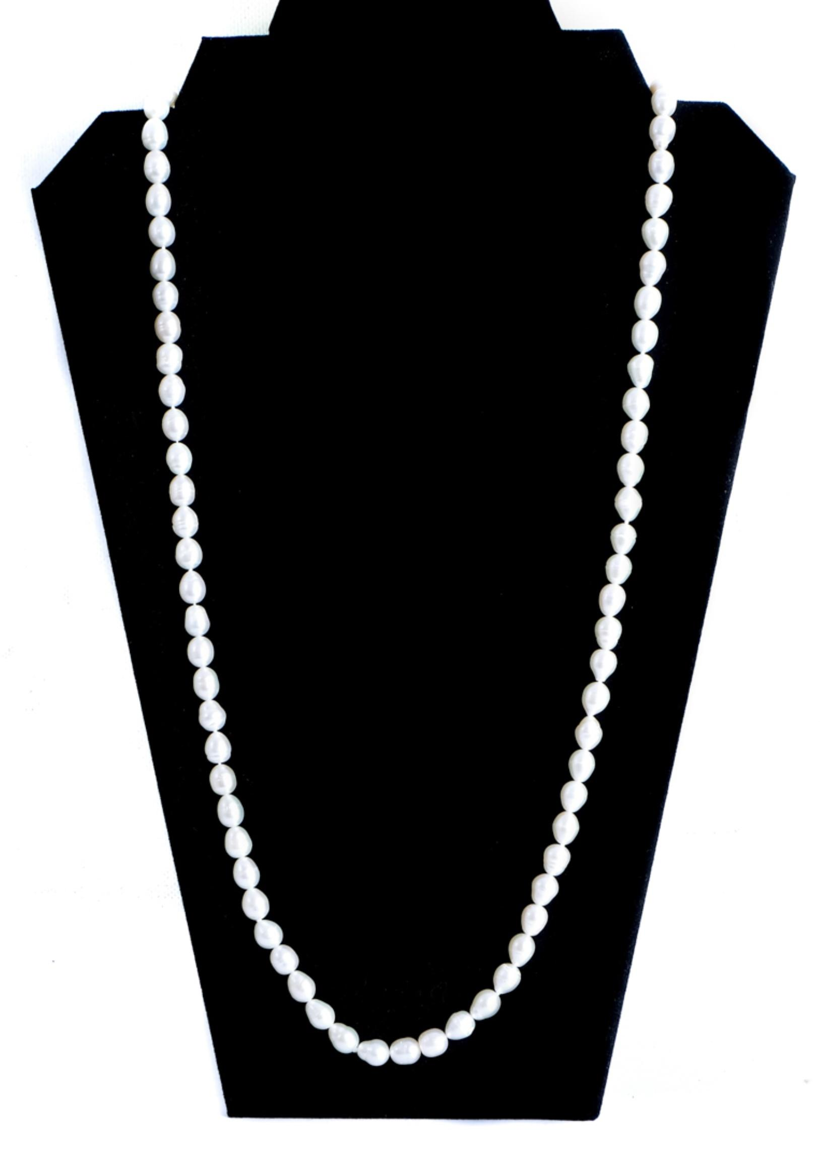Contemporary Freshwater 'Endless' Pearl Necklace