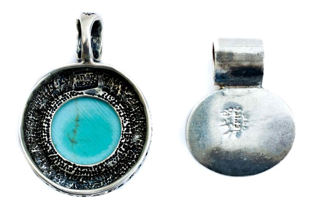 Group, 4 Pcs Mexican Sterling Silver & Turquoise