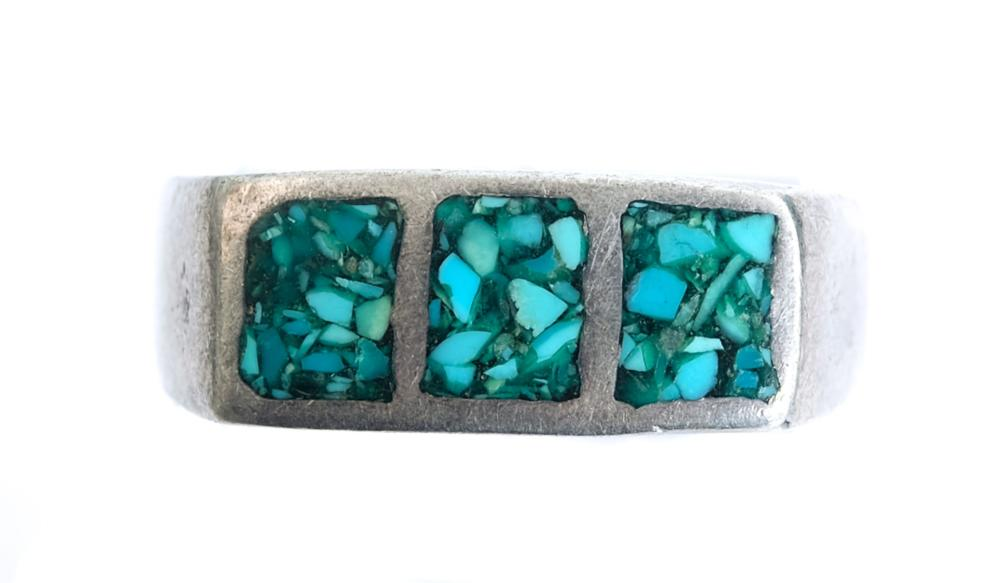 Sterling Silver & Turquoise Ring w/Earrings