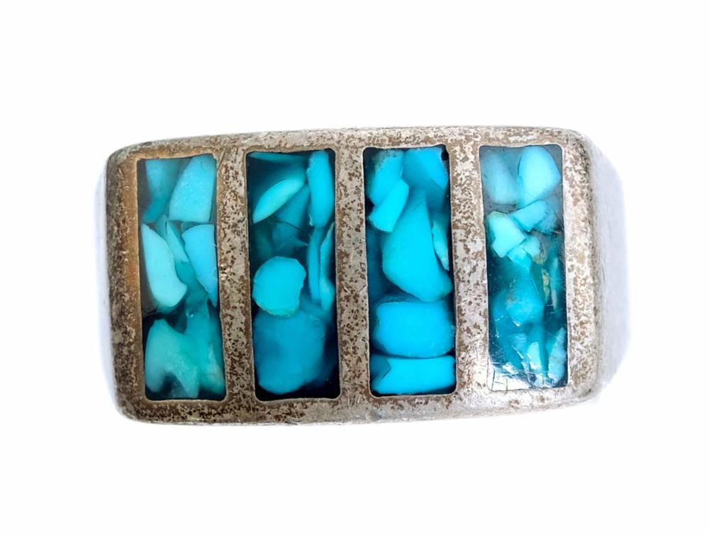 Group, Two Sterling & Turquoise Rings w/Pendant