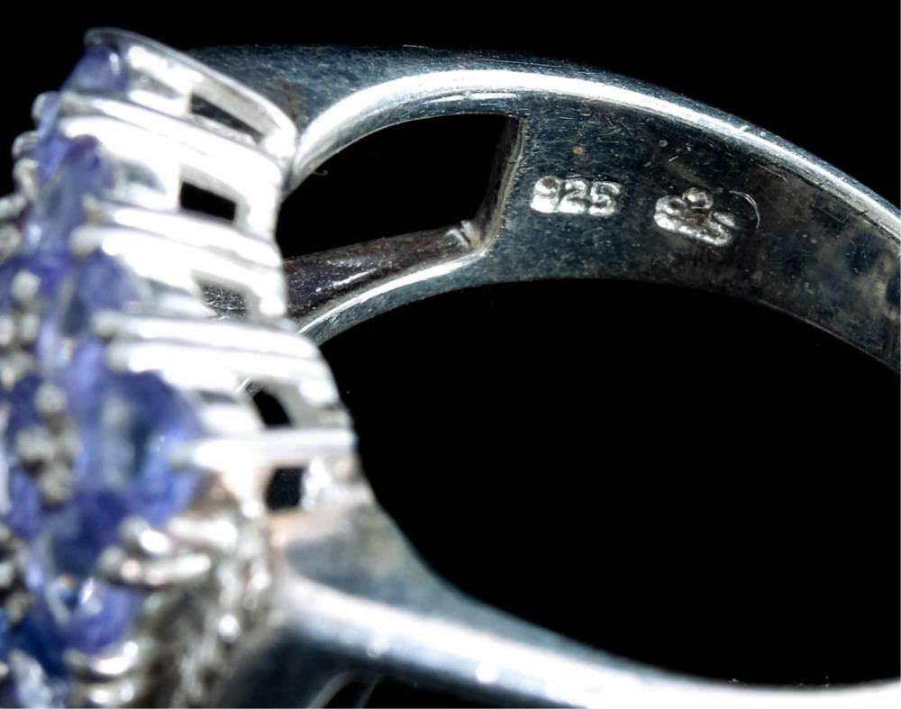 Sterling Silver & Amethyst Ring w/Bracelet