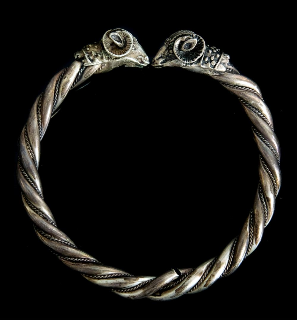 Two Vintage Sterling Silver Bangle Bracelets