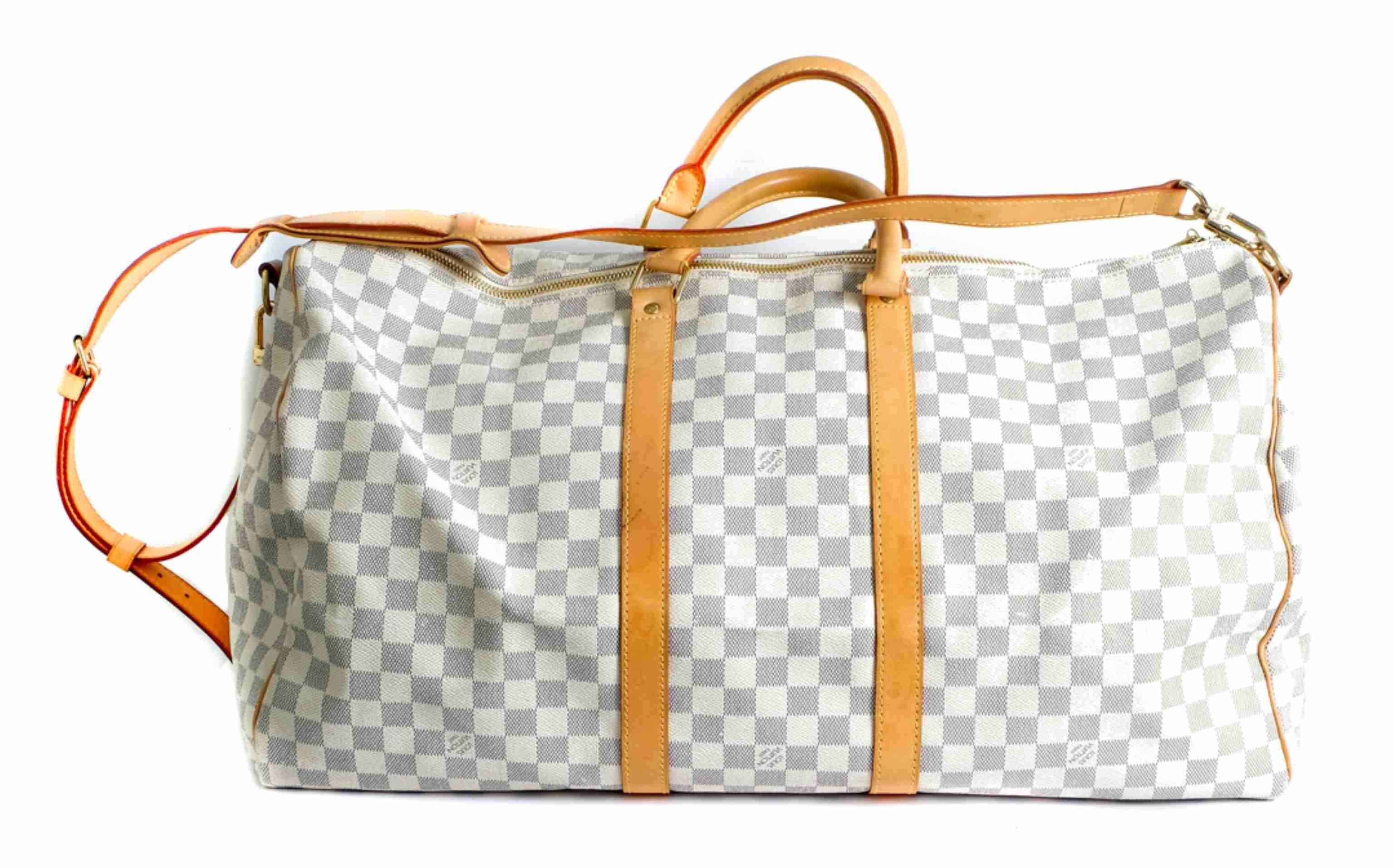 Louis Vuitton Damier Azur Keepall Bandouliere 55
