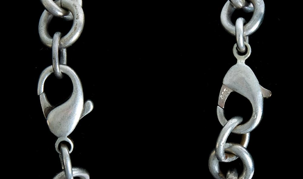Group, Three Sterling Silver Chain Bracelets
