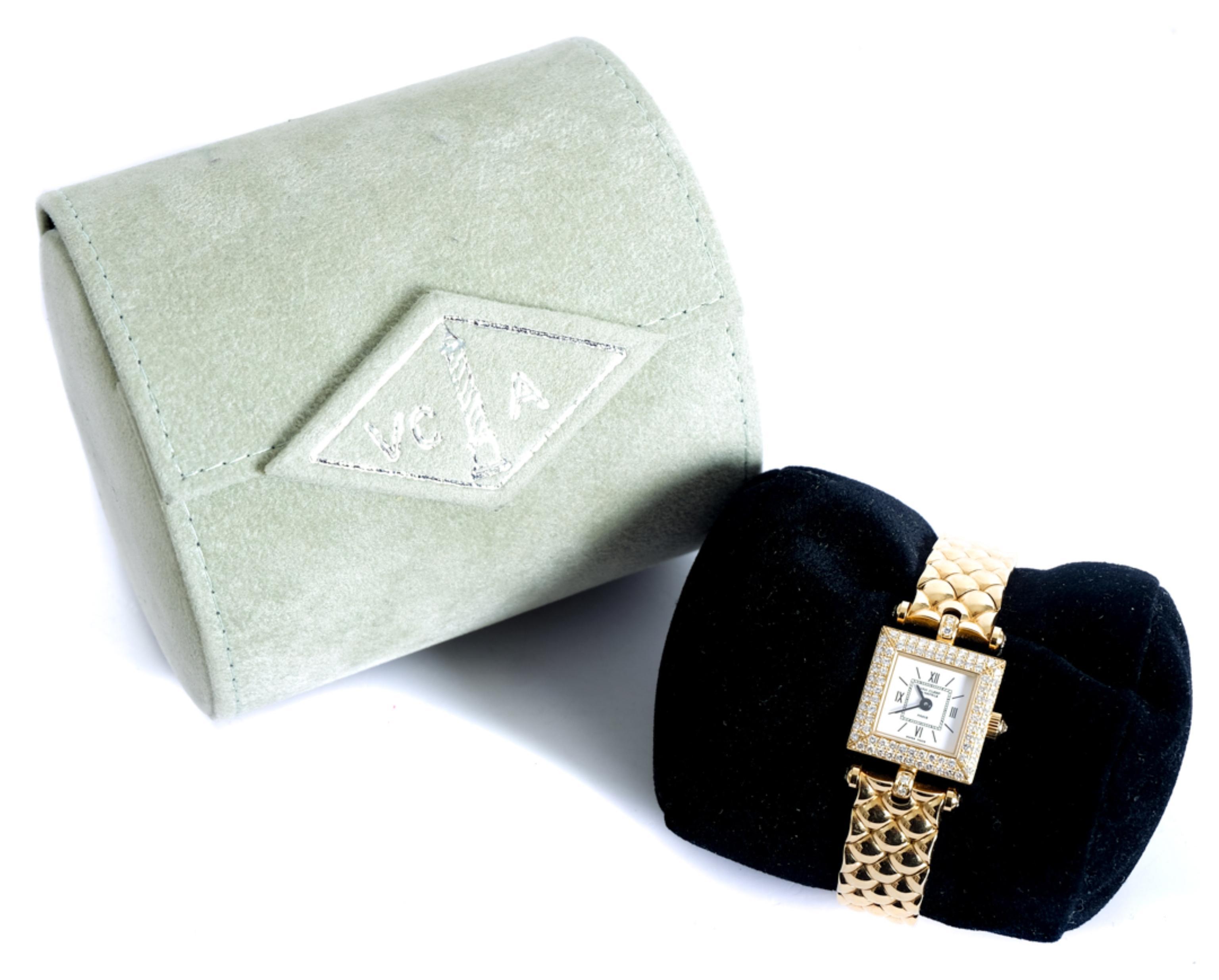 VCA 18K YG & Diamond Classique Watch w/Box