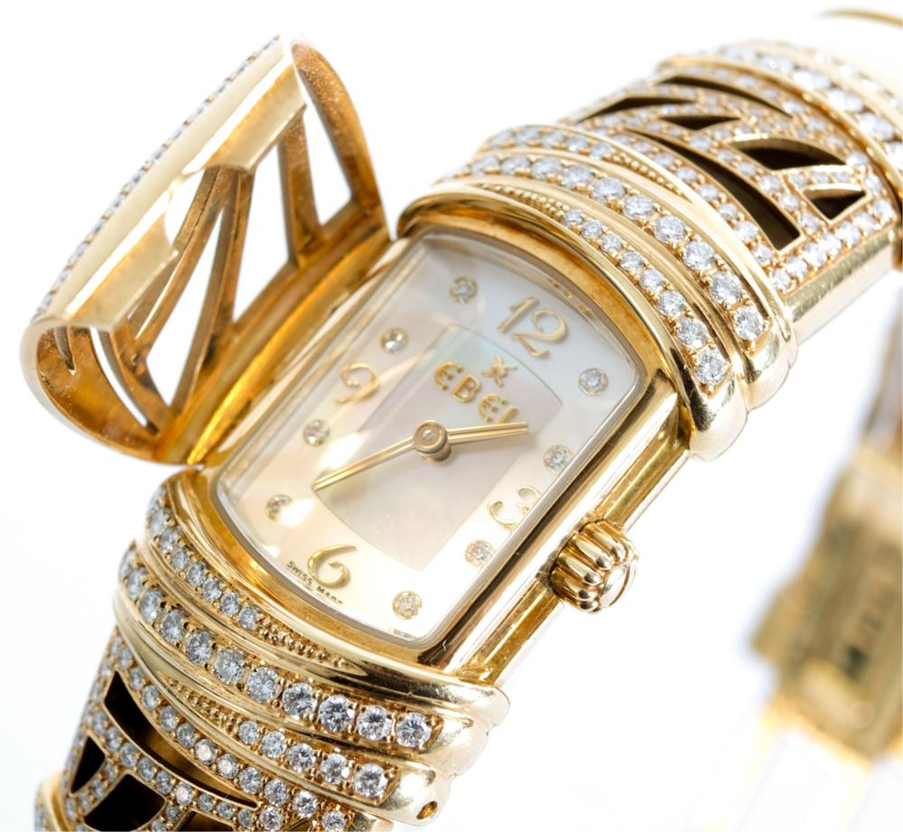 18k YG Diamond Ebel Shanta Watch w/Box