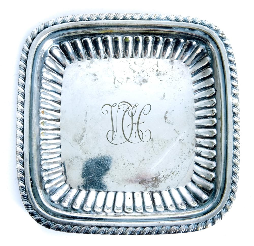 Set of Four Tiffany & Co Silver Butter Pats