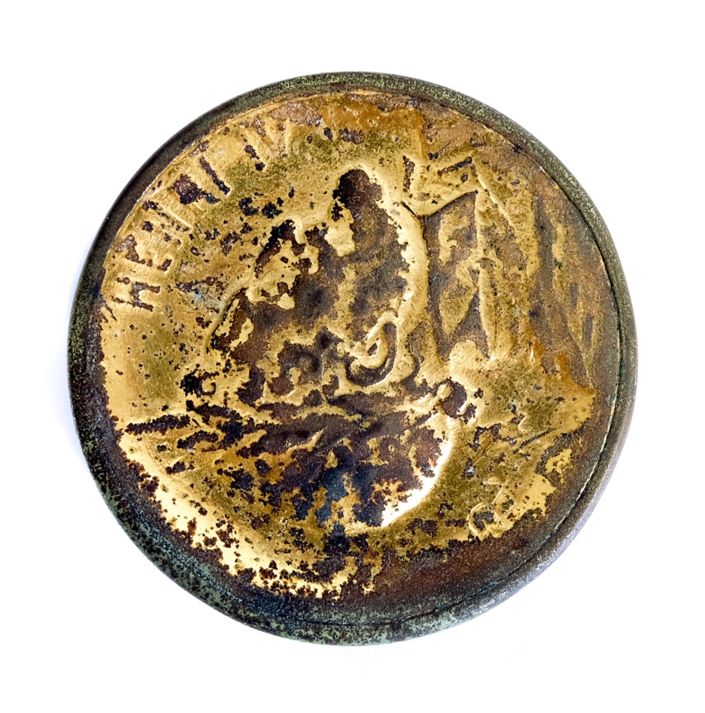 Henri IV Cylindrical Gold & Silver Snuff Box