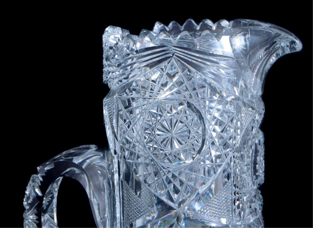 American Brilliant Cut Glass Champagne Pitcher