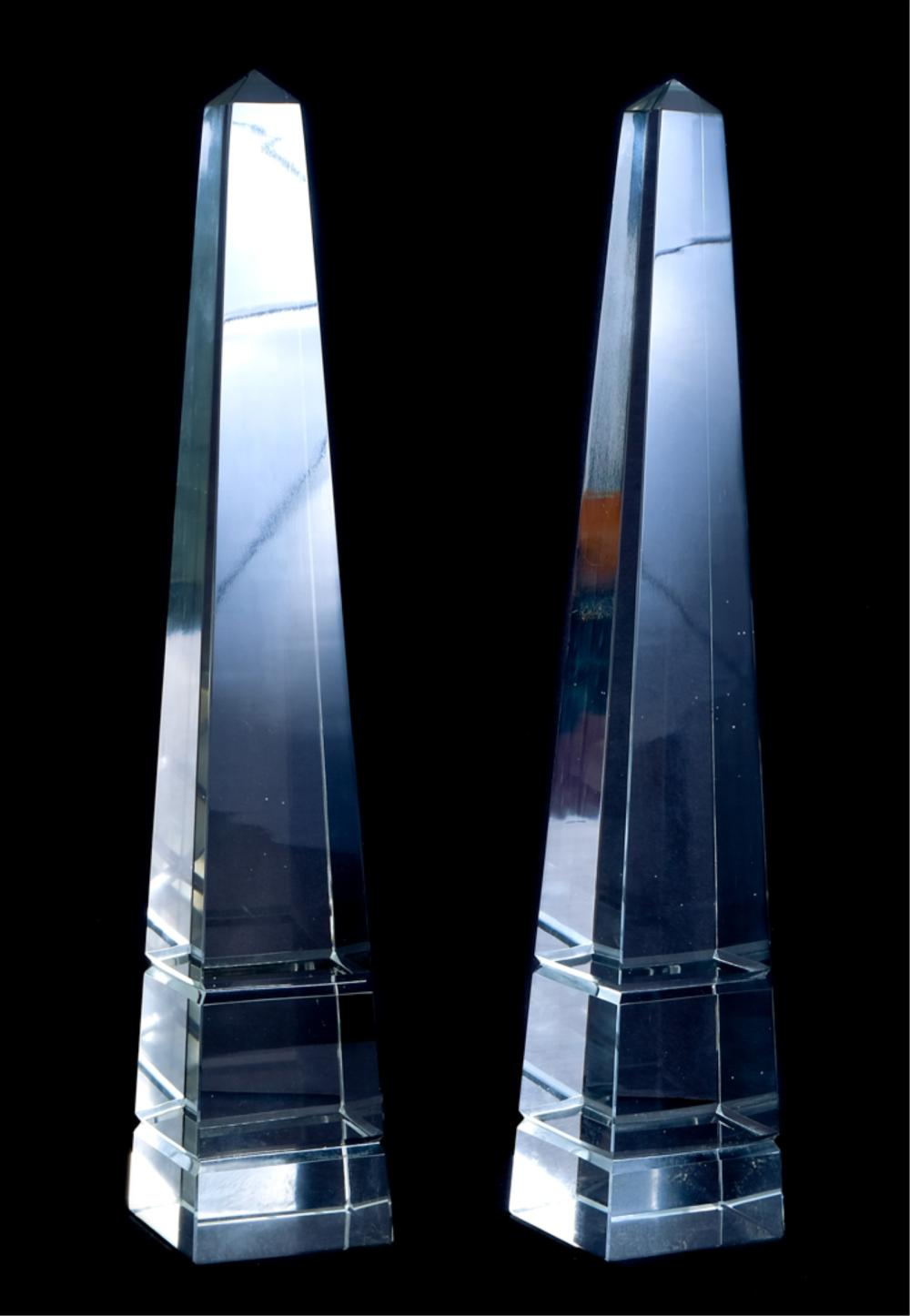 Group, Three Crystal Obelisks