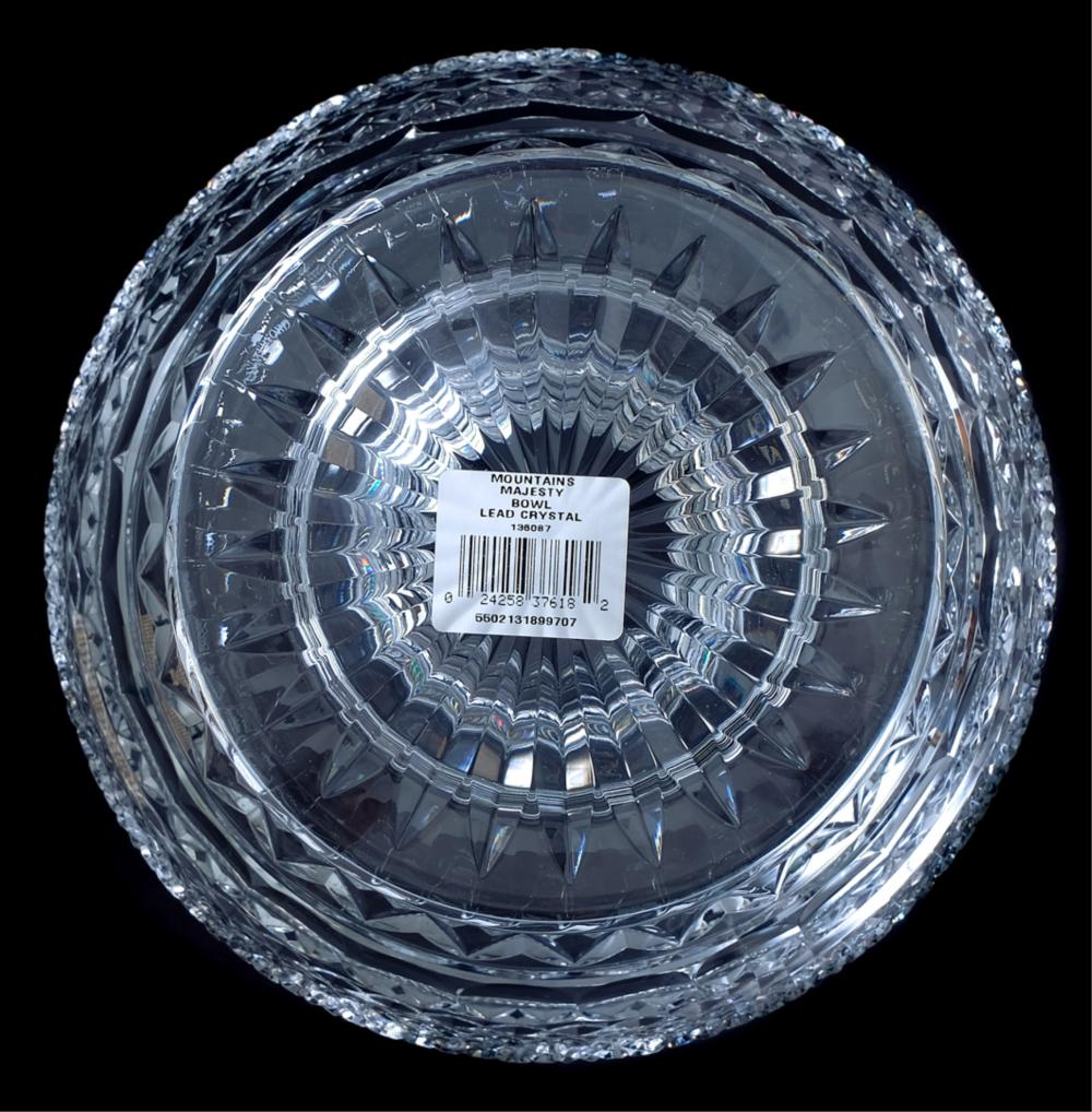 "Waterford Crystal ""Mountains of Majesty"" Bowl, NIB"