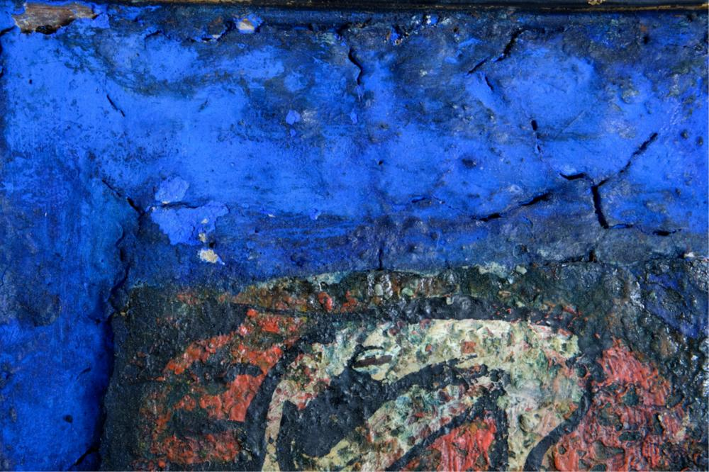 Alexander Gore Abstract Mixed Media Signed COA