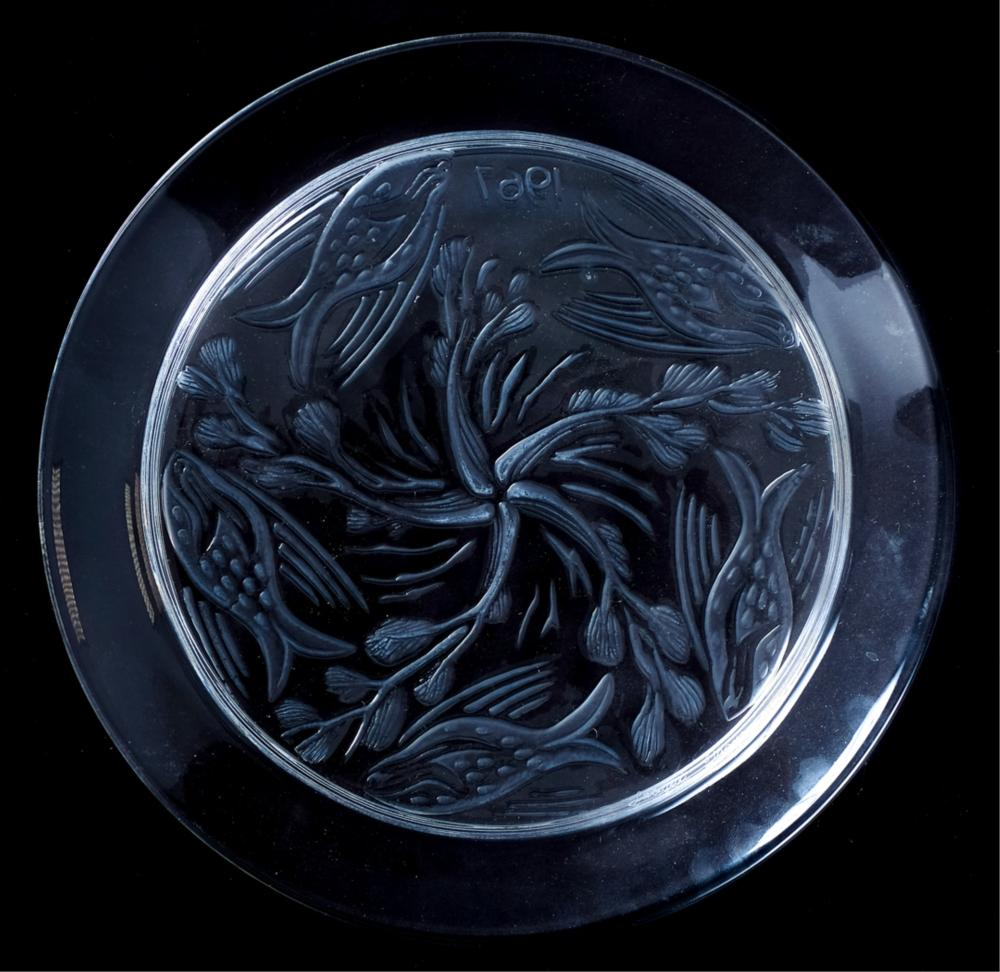 Group, 4 Lalique Crystal Collectors Plates