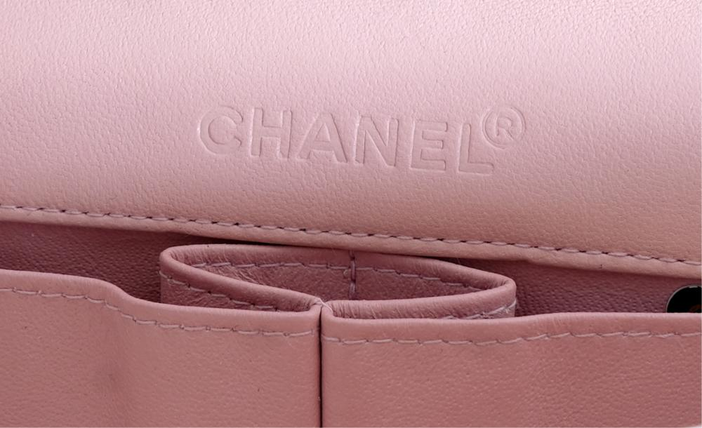 Rose Quilted Calfskin Chanel Clutch Flap Bag